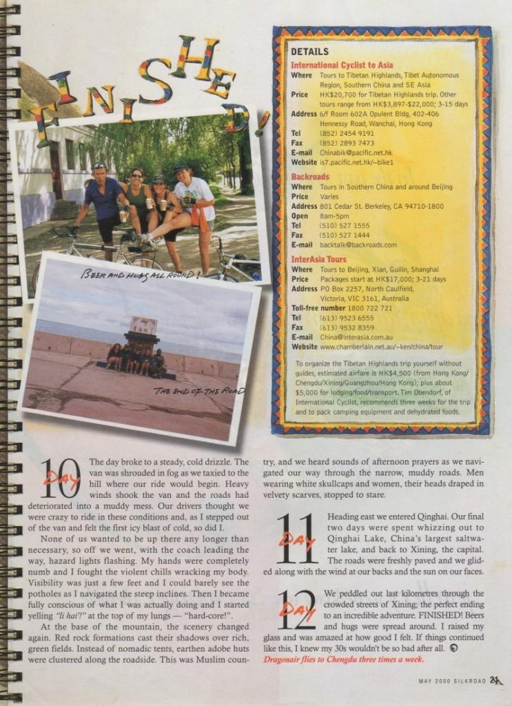 Silk Road Magazine Tibet Bike Trip