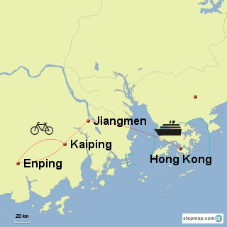 Map of Castle House Cycling South China