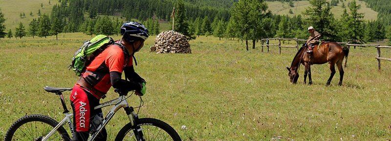 Biking through the Mongolian Grasslands living in yurts enjoying the yoghurt