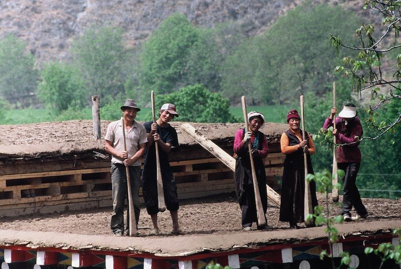 Tibet and roof repair