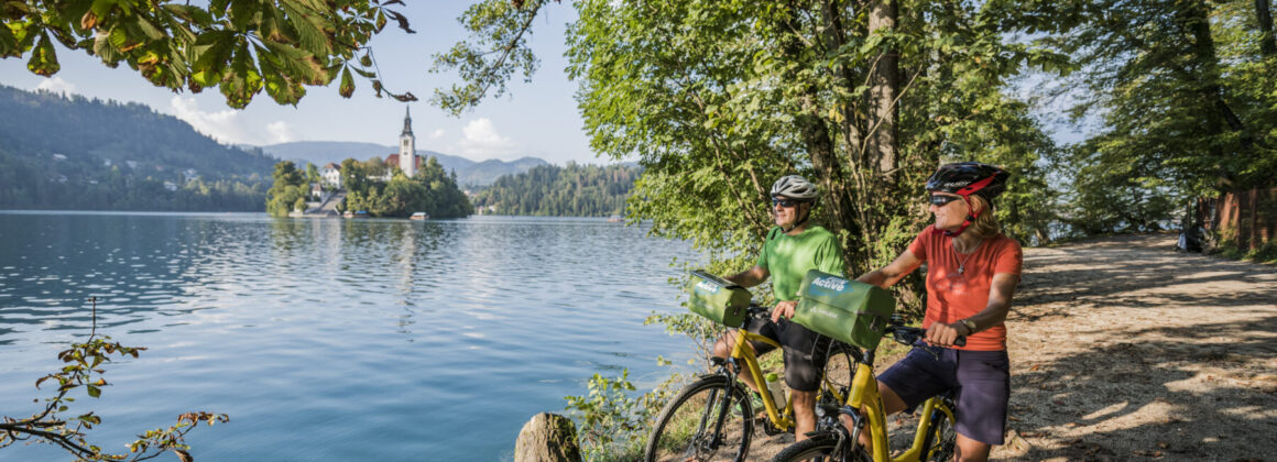 Biking in Europe on well paved roads by lakes and amongst the mountains