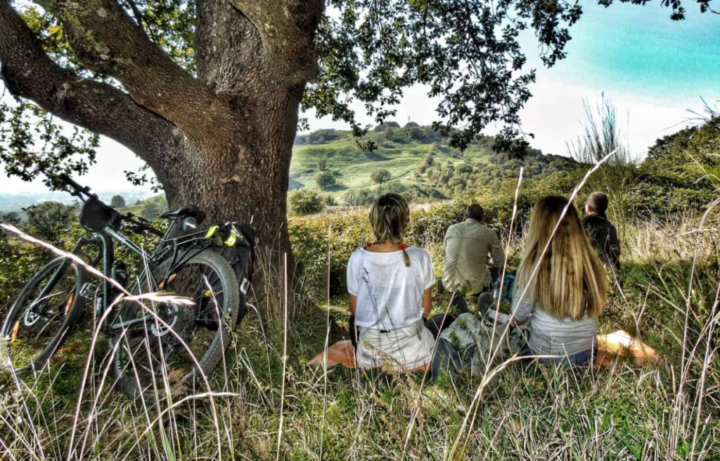 Roman Countryside Bike Riding and Relaxing