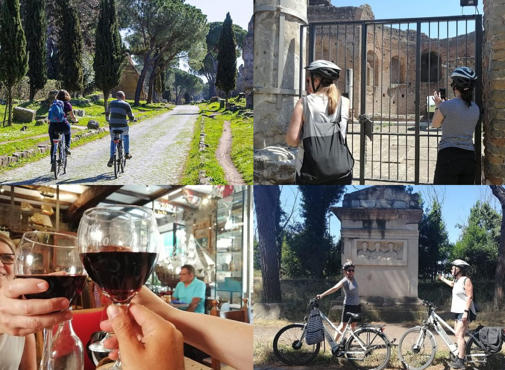 Cycle the Appian Way country roads Italy