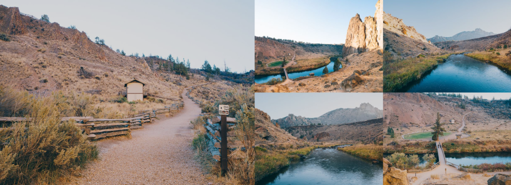 Smith Rock Central Oregon, Bend and Sisters High Desert Ponderosa Pines Mountains