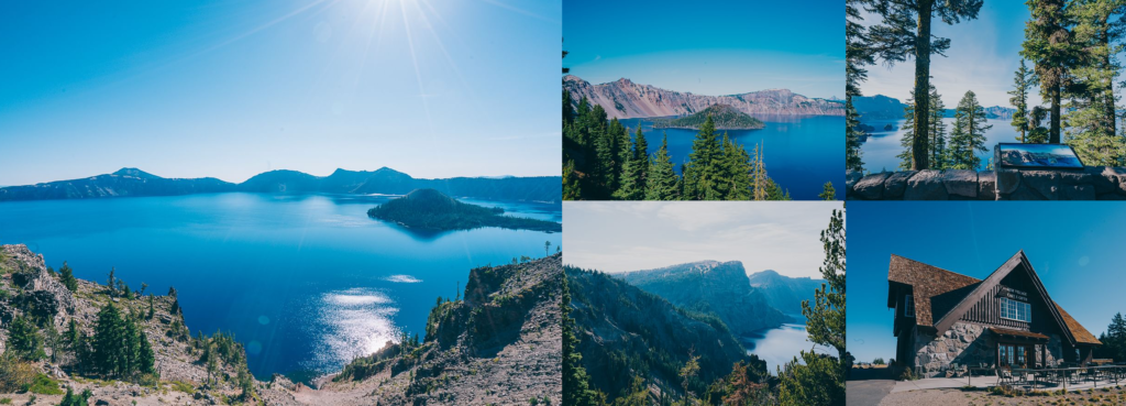 Crater lake National Park and historical lodge