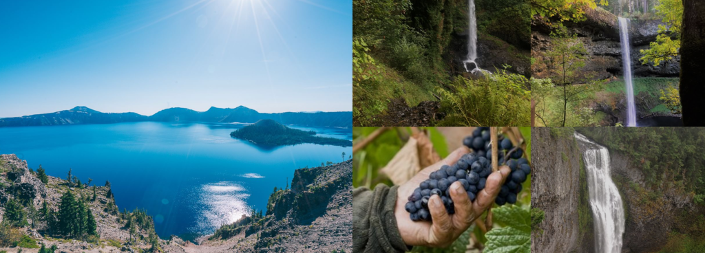 Crater Lake National Park, Columbia Gorge Water Falls, Vineyard Exploration all in three days.